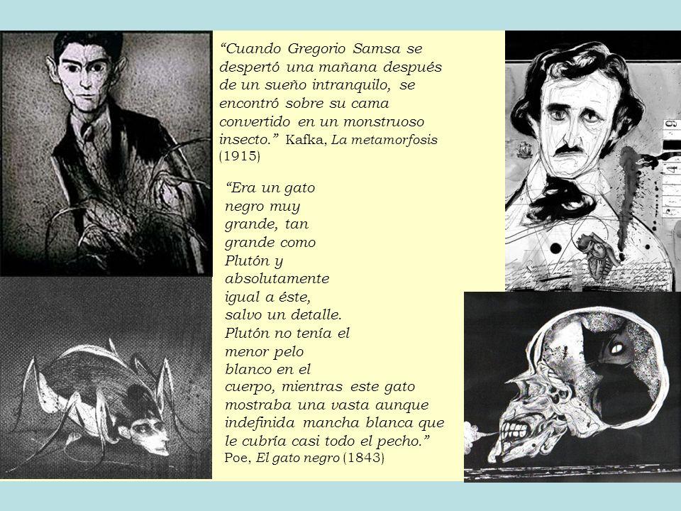 Cuando Gregorio Samsa se despertó una mañana después de un sueño intranquilo, se encontró sobre su cama convertido en un monstruoso insecto. Kafka, La metamorfosis (1915)