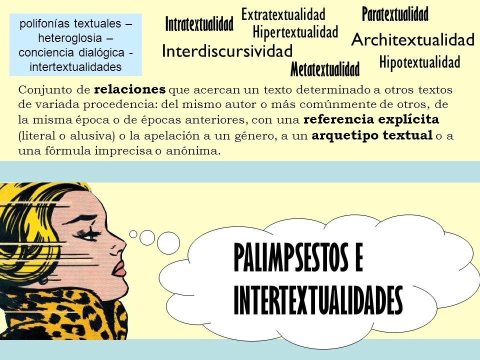 PALIMPSESTOS E INTERTEXTUALIDADES