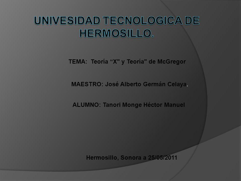 UNIVESIDAD TECNOLOGICA DE HERMOSILLO.