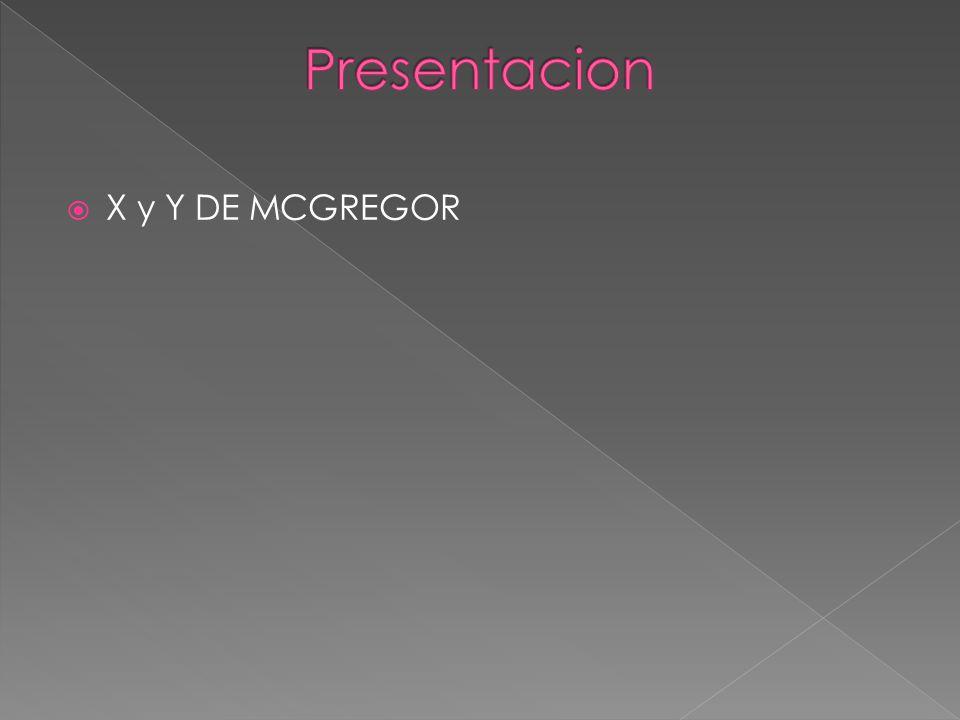 Presentacion X y Y DE MCGREGOR