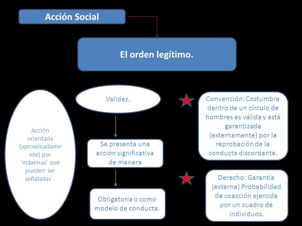 Acción Social El orden legítimo.