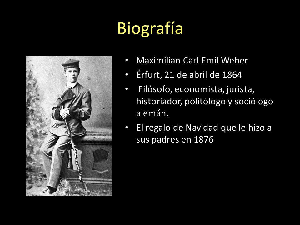 Biografía Maximilian Carl Emil Weber Érfurt, 21 de abril de 1864