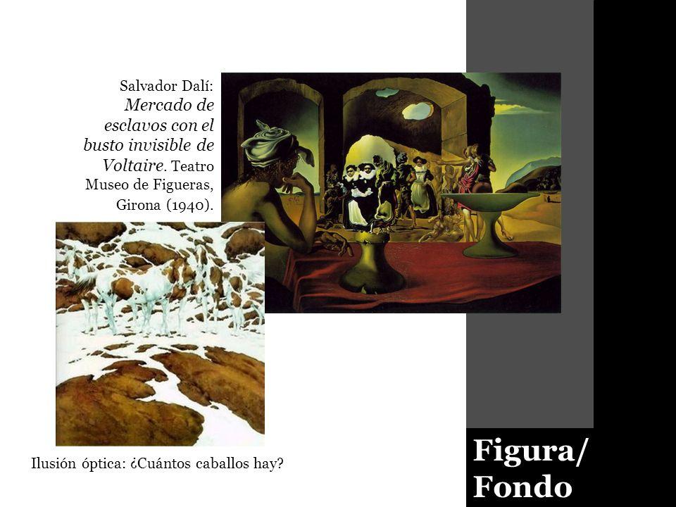 Salvador Dalí: Mercado de esclavos con el busto invisible de Voltaire
