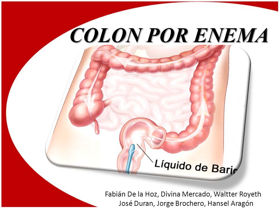 COLON POR ENEMA Fabián De la Hoz, Divina Mercado, Waltter Royeth José Duran, Jorge Brochero, Hansel Aragón.