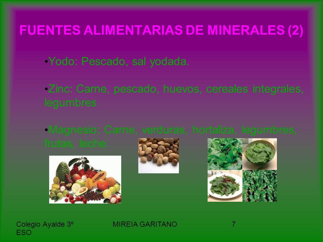 FUENTES ALIMENTARIAS DE MINERALES (2)