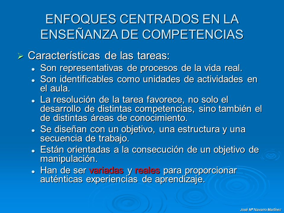 ENFOQUES CENTRADOS EN LA ENSEÑANZA DE COMPETENCIAS