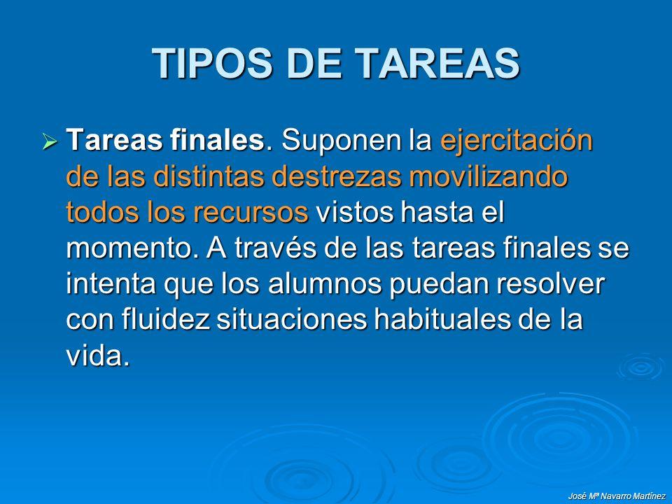 TIPOS DE TAREAS
