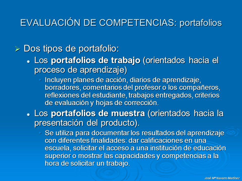 EVALUACIÓN DE COMPETENCIAS: portafolios