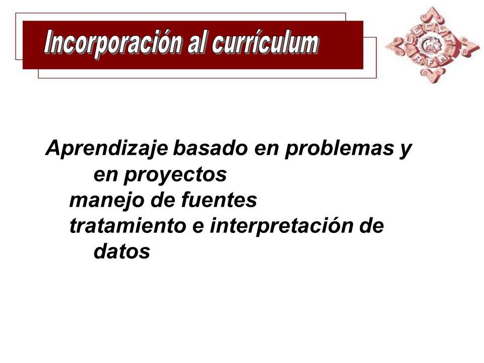 Incorporación al currículum