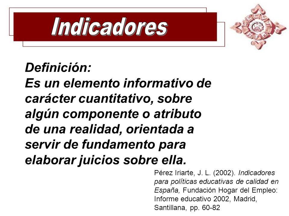 Indicadores Definición: