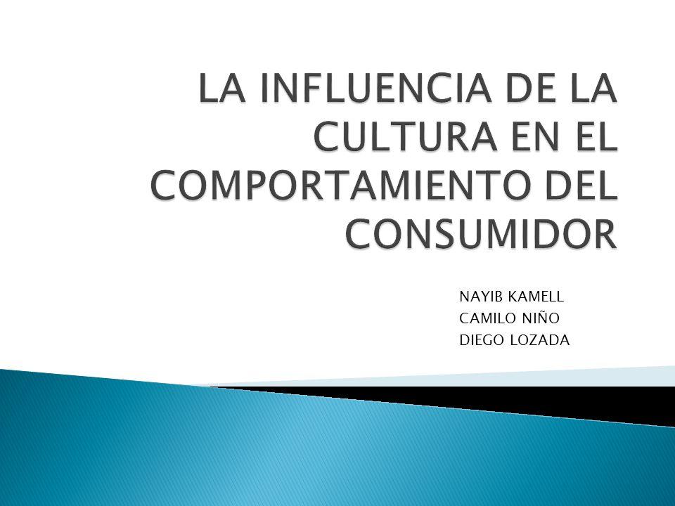 LA INFLUENCIA DE LA CULTURA EN EL COMPORTAMIENTO DEL CONSUMIDOR