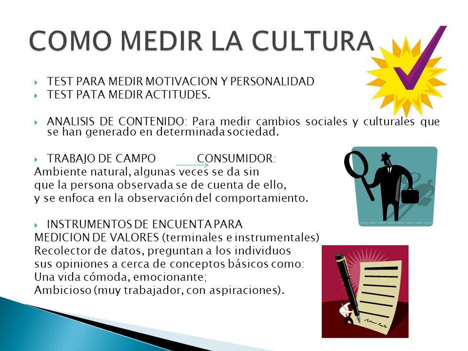 COMO MEDIR LA CULTURA TEST PARA MEDIR MOTIVACION Y PERSONALIDAD