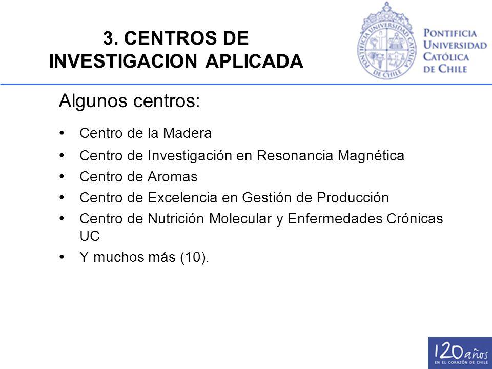 3. CENTROS DE INVESTIGACION APLICADA