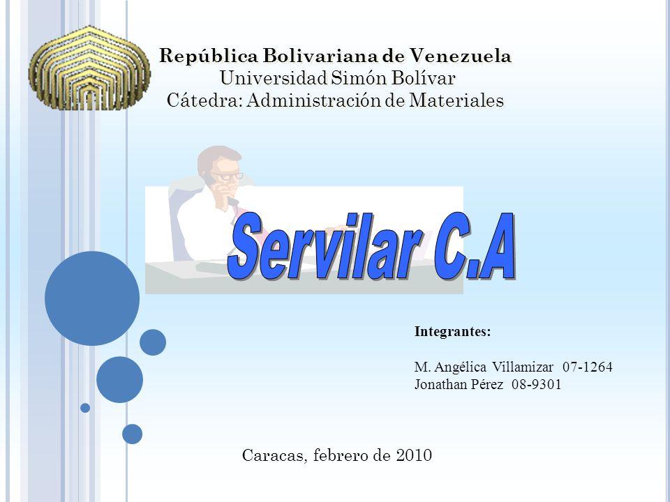 República Bolivariana de Venezuela Universidad Simón Bolívar