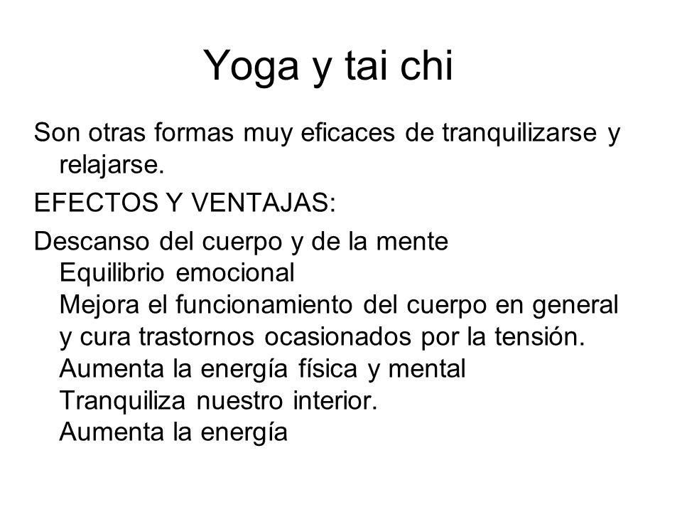 Yoga y tai chi