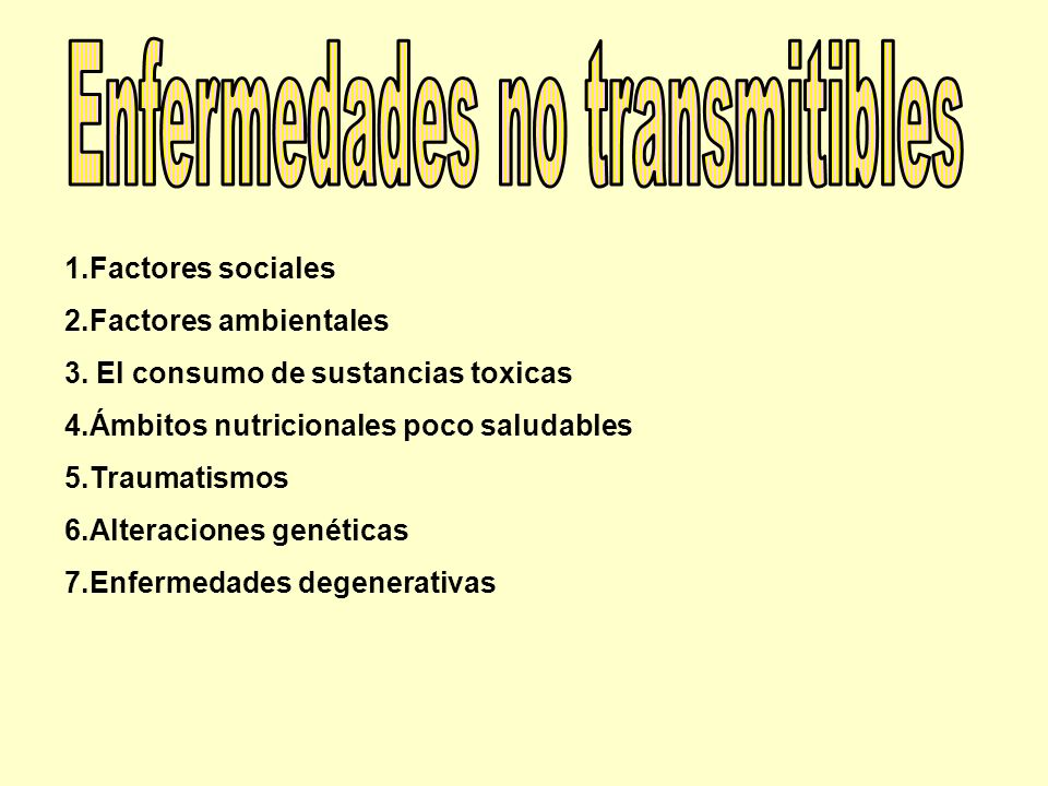 Enfermedades no transmitibles
