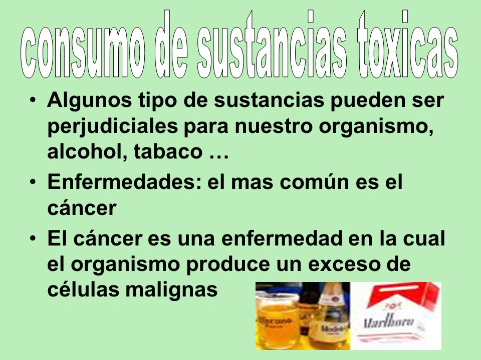 consumo de sustancias toxicas