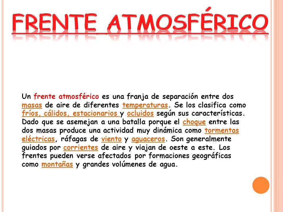 FRENTE ATMOSFÉRICO