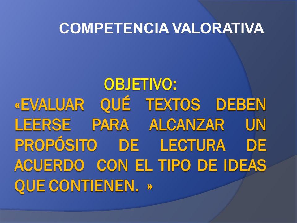 COMPETENCIA VALORATIVA