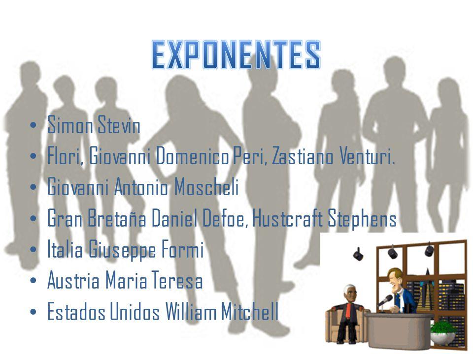 EXPONENTES Simon Stevin