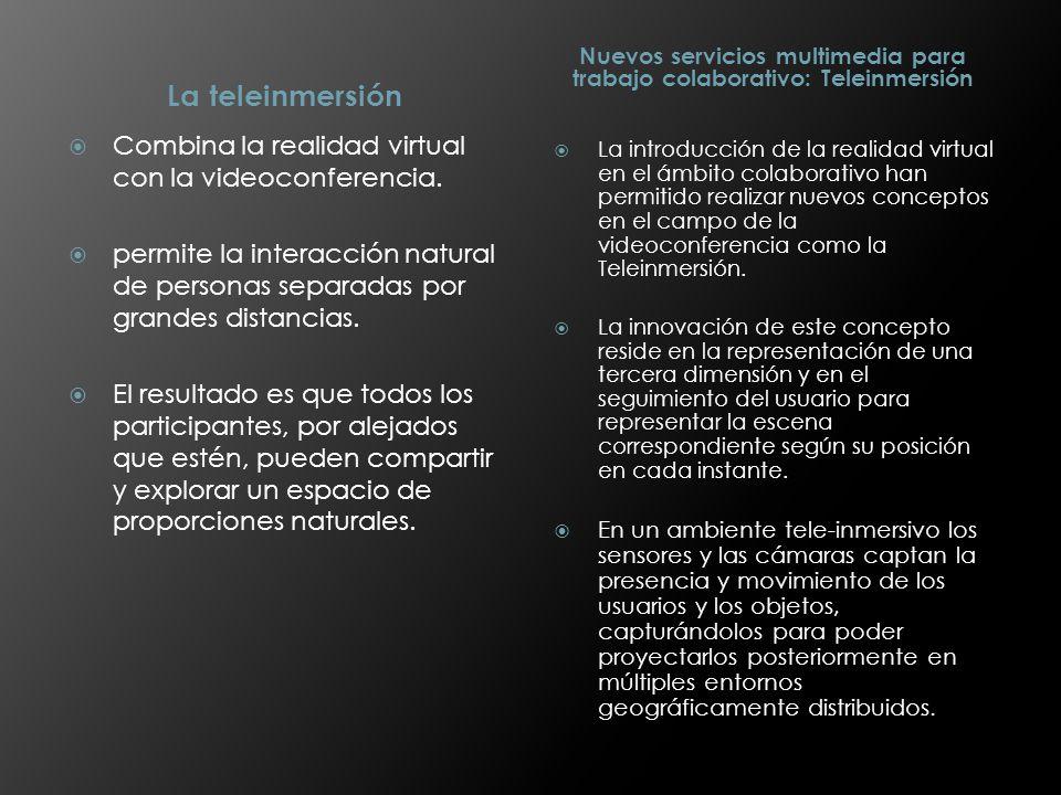 Nuevos servicios multimedia para trabajo colaborativo: Teleinmersión
