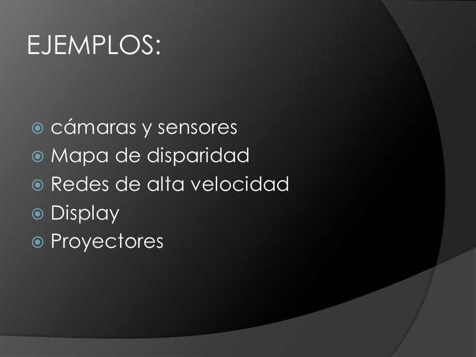 EJEMPLOS: cámaras y sensores Mapa de disparidad