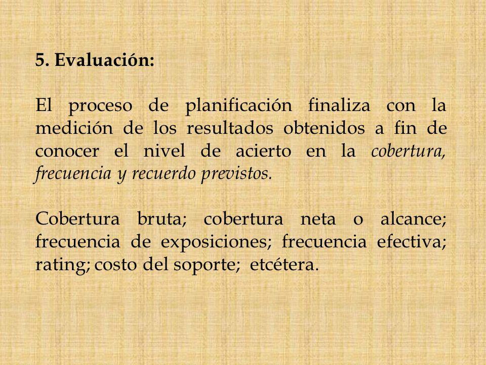 5. Evaluación: