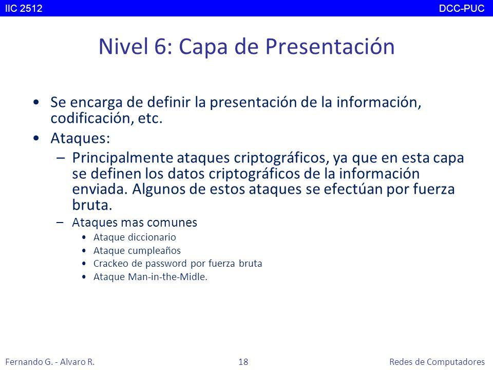 Nivel 6: Capa de Presentación