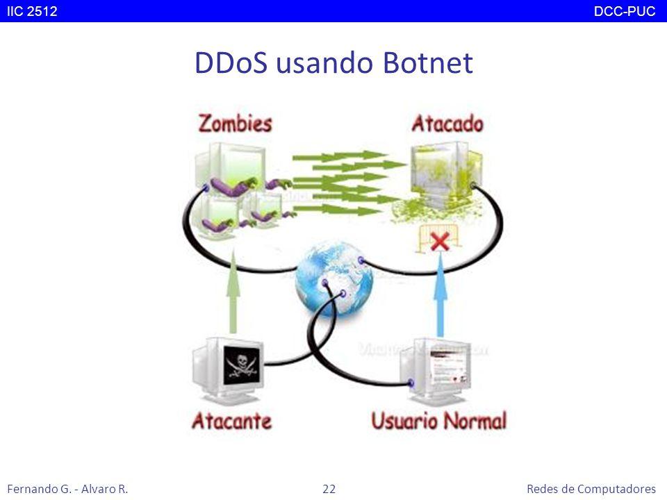 DDoS usando Botnet IIC 2512 DCC-PUC