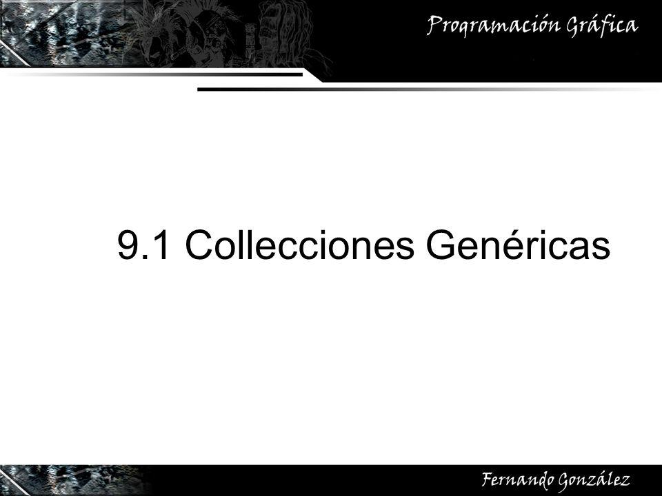9.1 Collecciones Genéricas