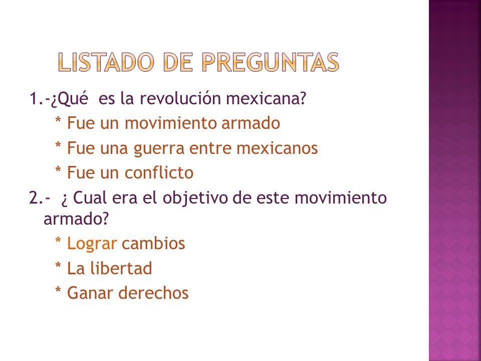 LISTADO DE PREGUNTAS