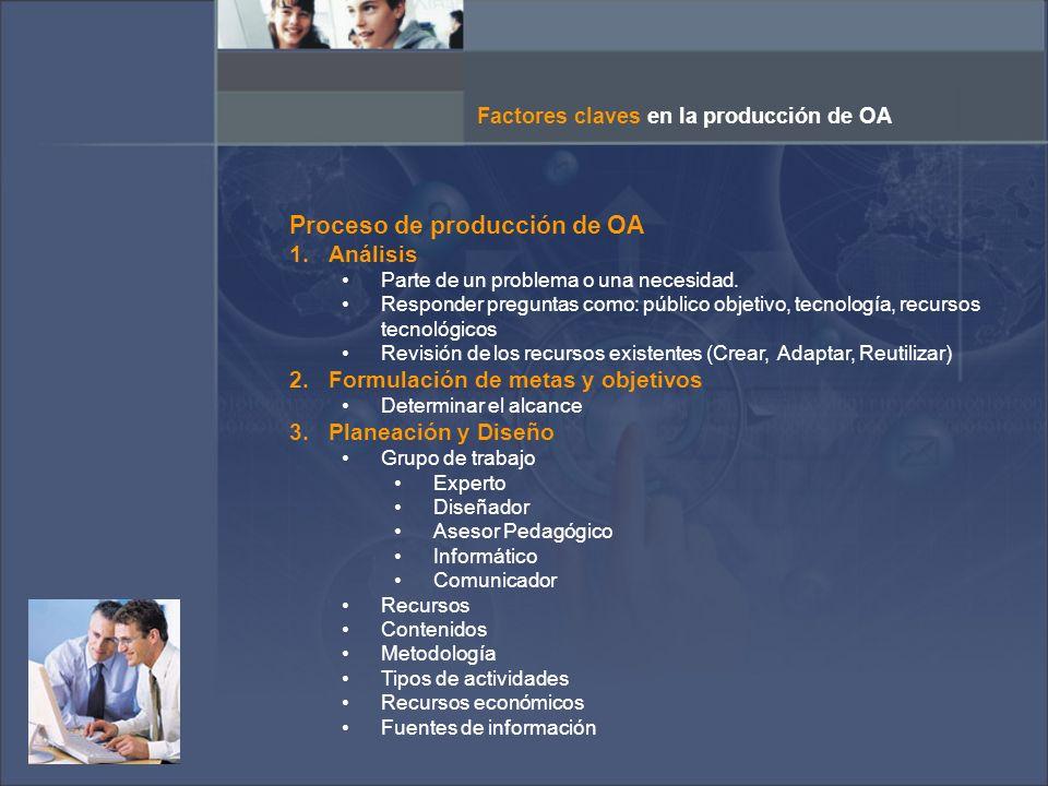 Proceso de producción de OA