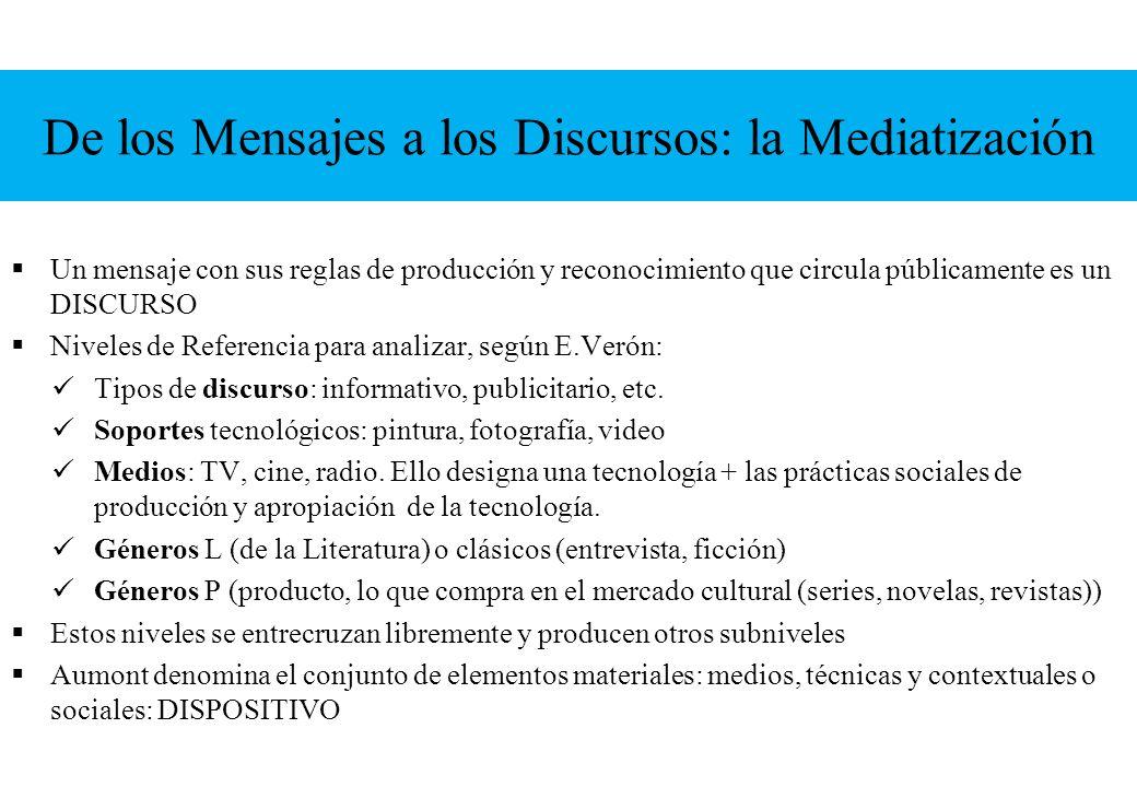 De los Mensajes a los Discursos: la Mediatización