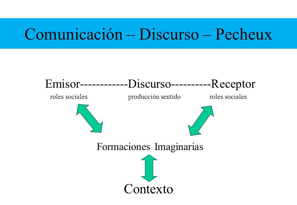 Comunicación – Discurso – Pecheux
