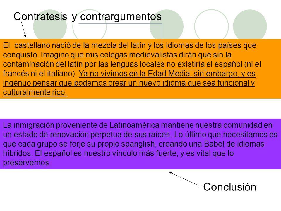 Contratesis y contrargumentos