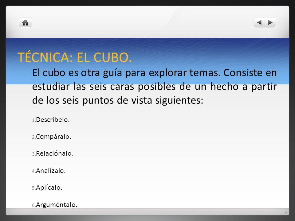 TÉCNICA: EL CUBO.