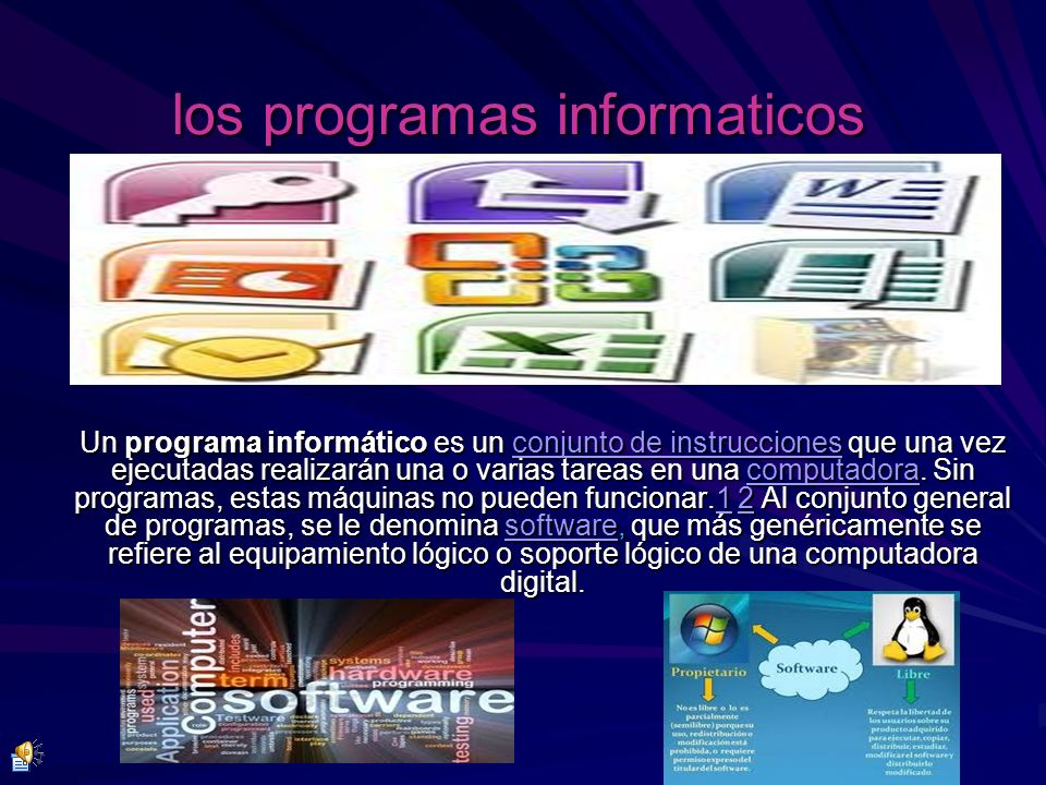 los programas informaticos