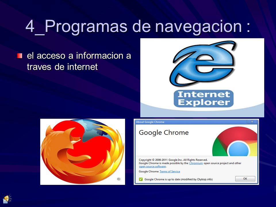 4_Programas de navegacion :