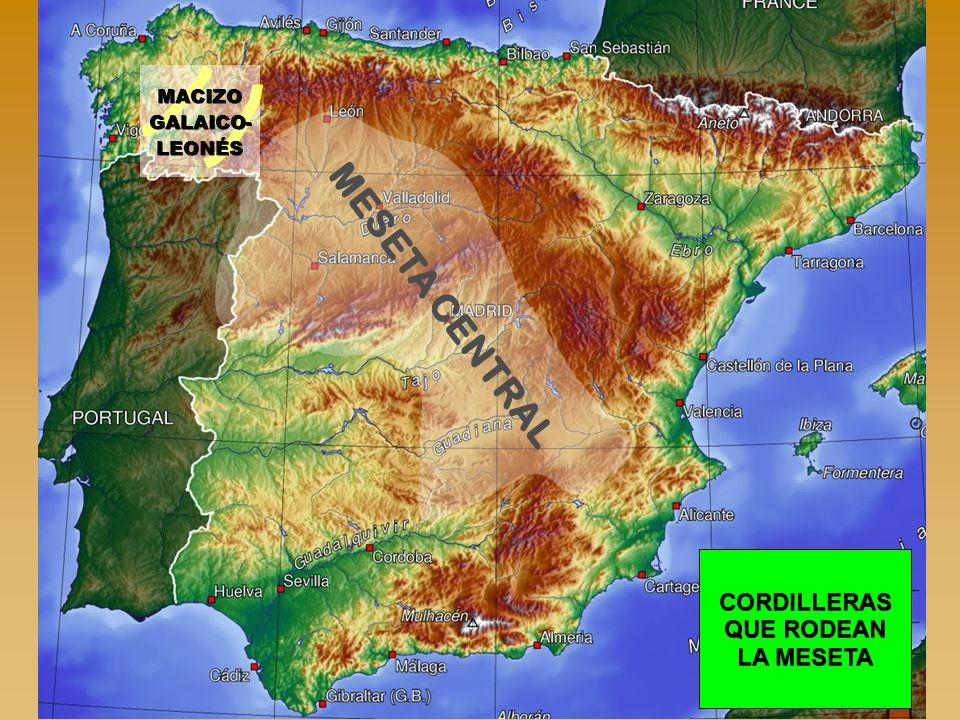 MACIZO GALAICO-LEONÉS CORDILLERAS QUE RODEAN LA MESETA