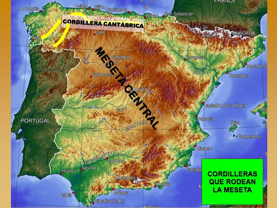 CORDILLERA CANTÁBRICA CORDILLERAS QUE RODEAN LA MESETA