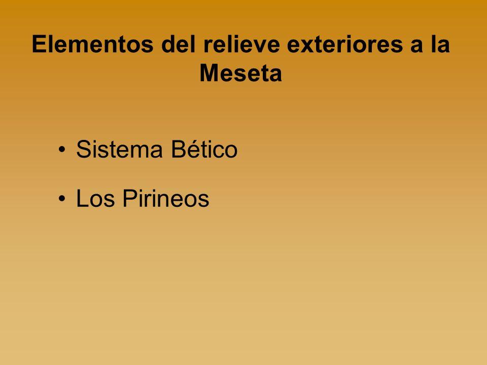 Elementos del relieve exteriores a la Meseta