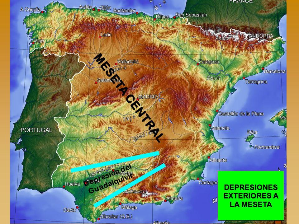 Depresión del Guadalquivir DEPRESIONES EXTERIORES A LA MESETA