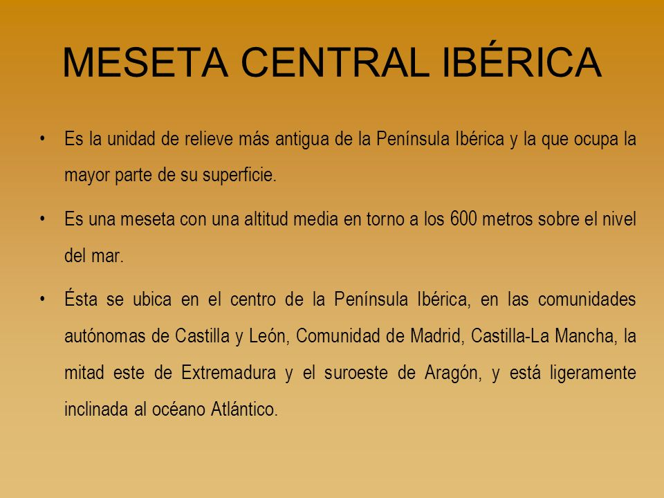 MESETA CENTRAL IBÉRICA