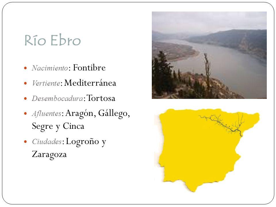 Río Ebro Nacimiento: Fontibre Vertiente: Mediterránea