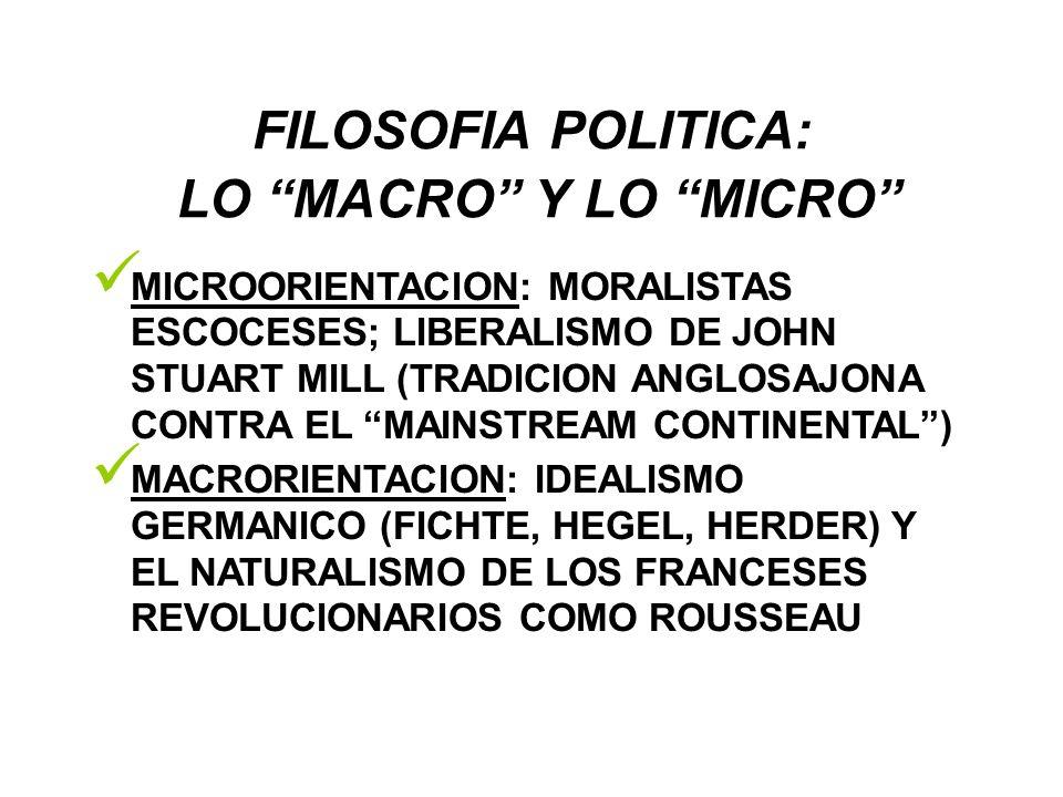 FILOSOFIA POLITICA: LO MACRO Y LO MICRO