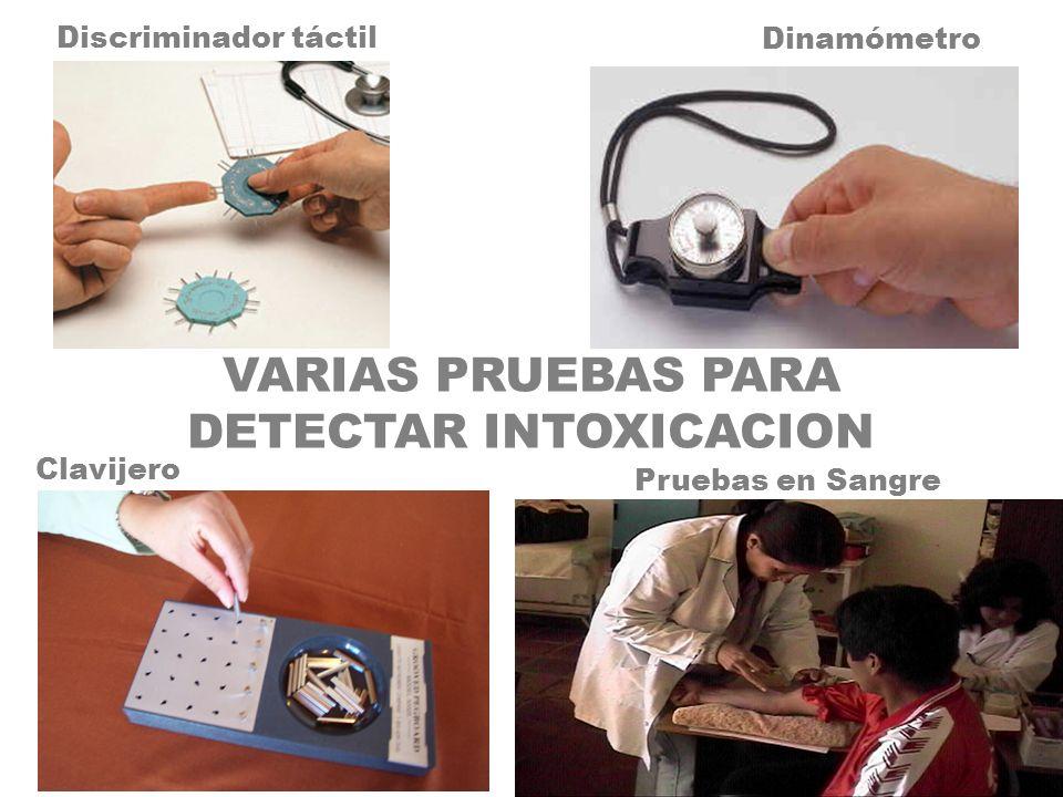 VARIAS PRUEBAS PARA DETECTAR INTOXICACION
