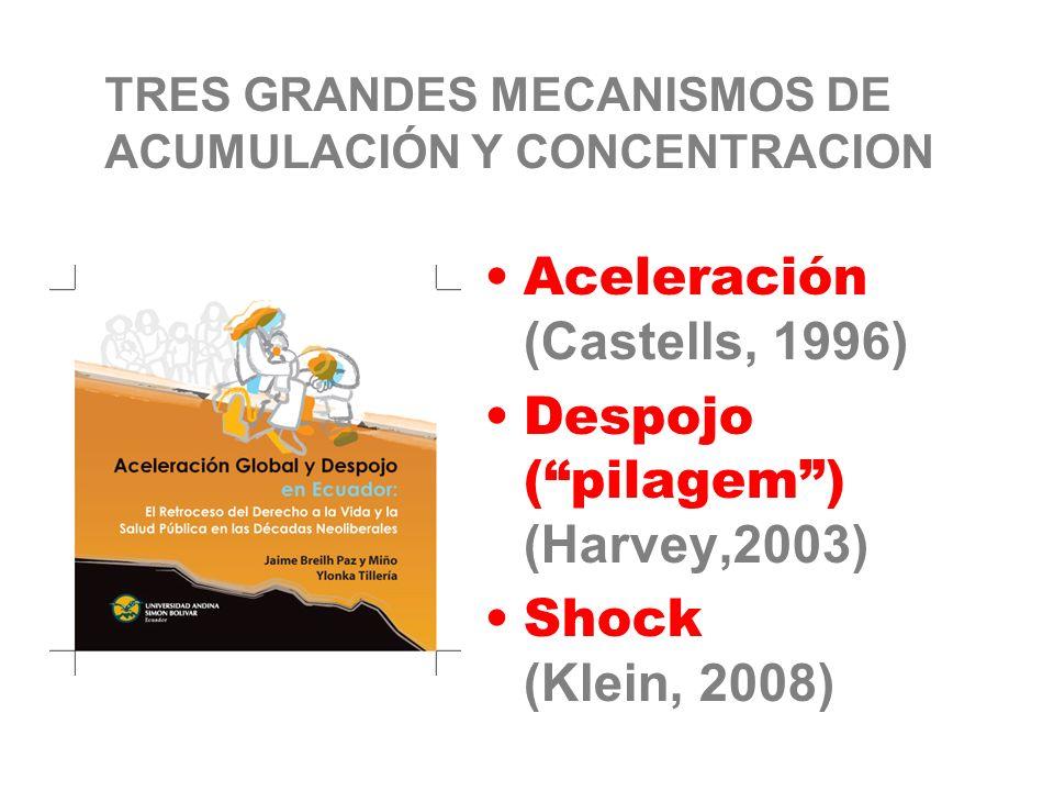 TRES GRANDES MECANISMOS DE ACUMULACIÓN Y CONCENTRACION