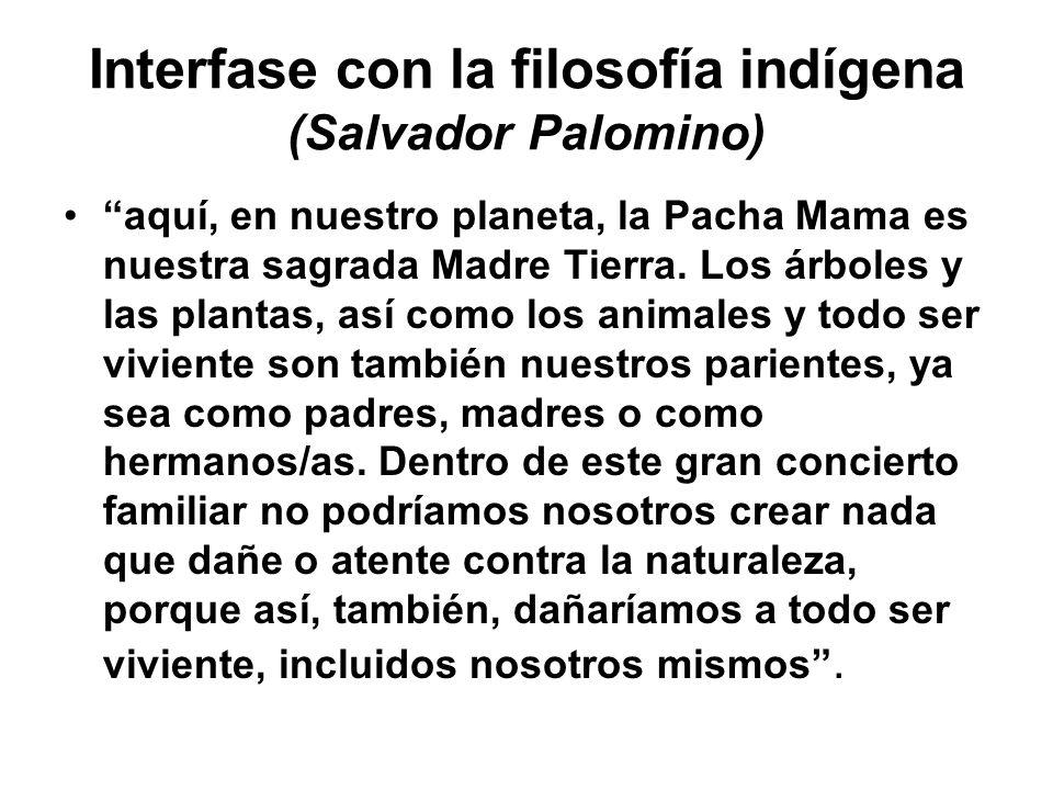 Interfase con la filosofía indígena (Salvador Palomino)