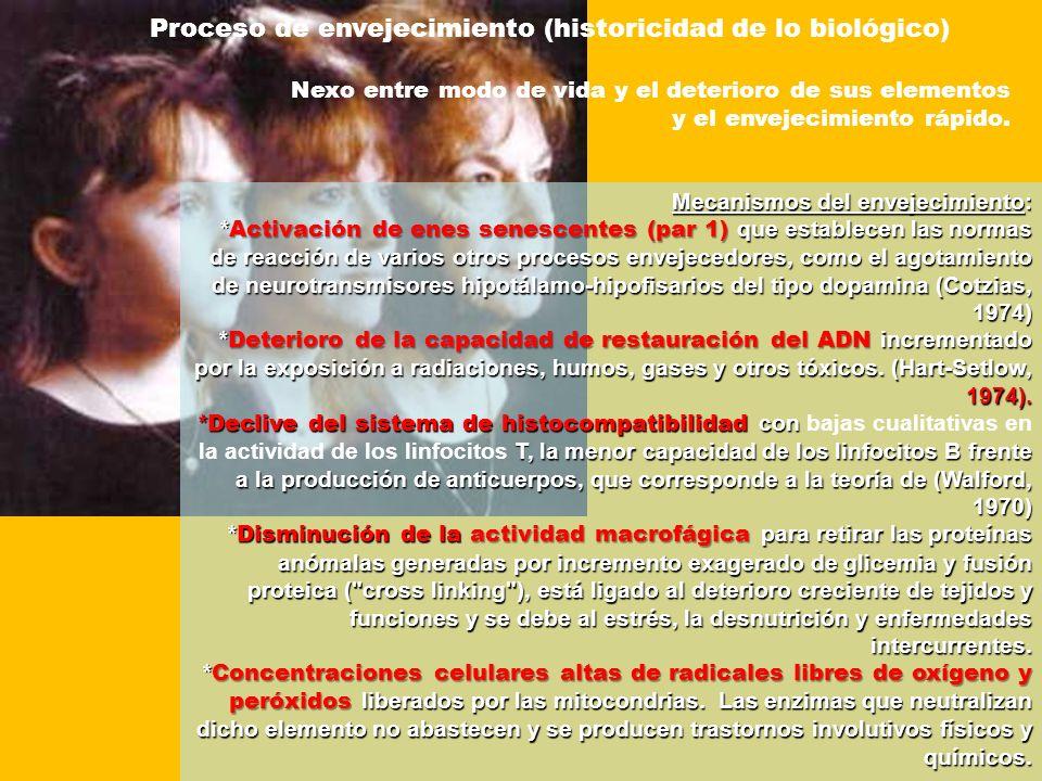 Proceso de envejecimiento (historicidad de lo biológico)
