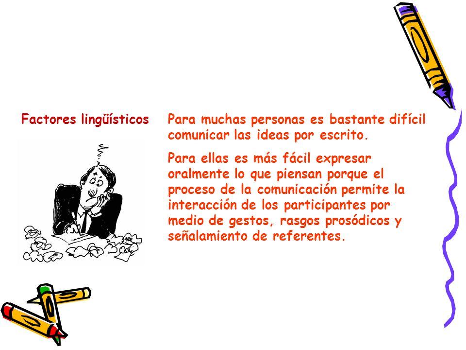 Factores lingüísticos